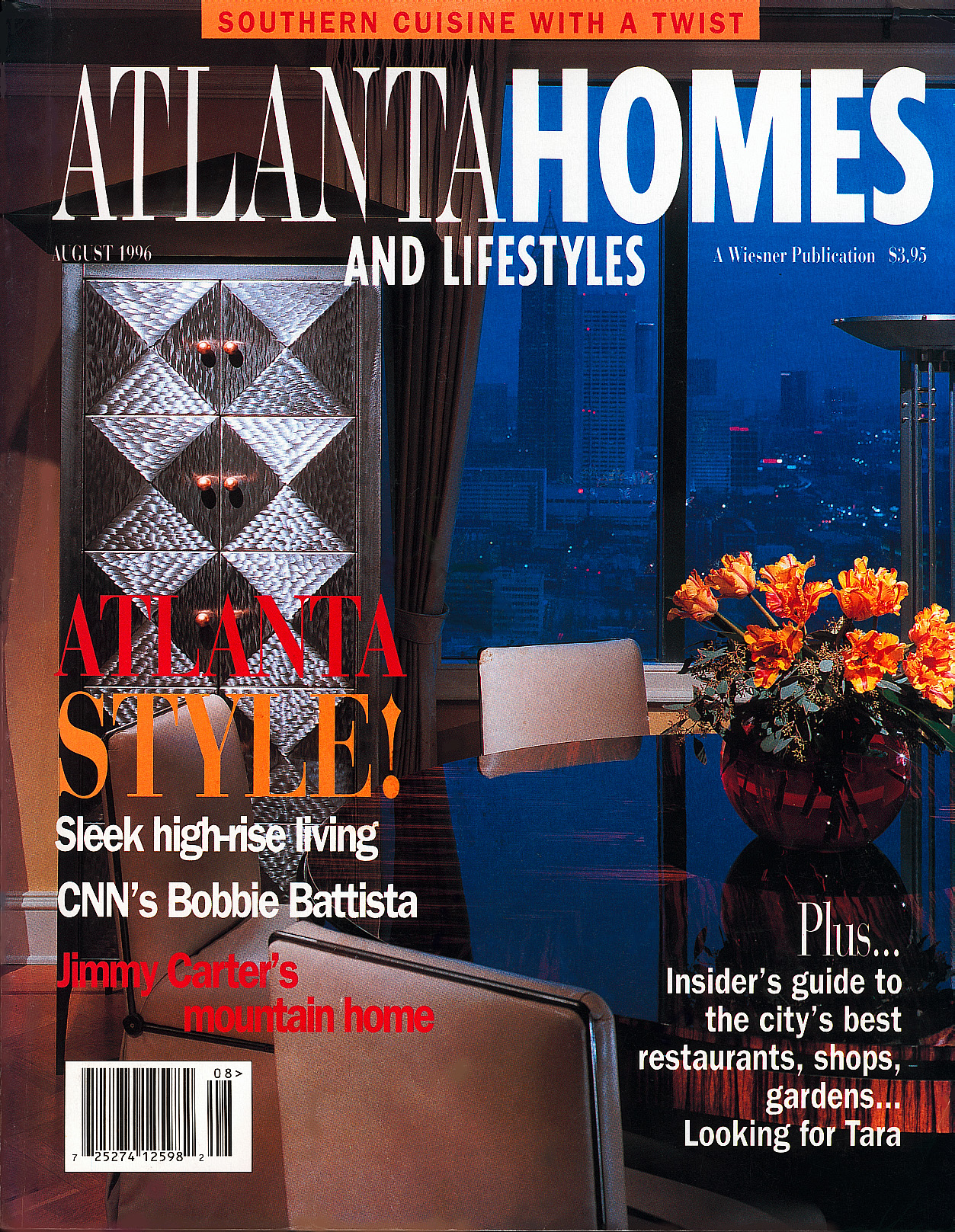 "Ten Door Cabinet on the cover of ""Atlanta Homes Magazine"""